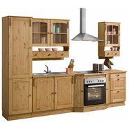 home affaire keukenset sylt zonder elektrische apparaten, breedte 300 cm beige