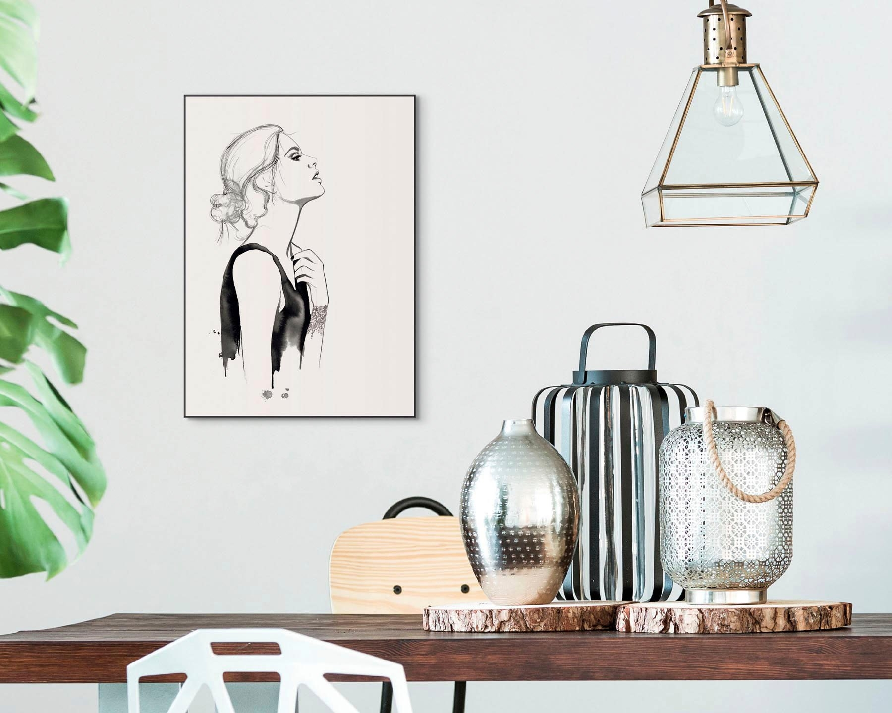 Reinders! artprint Slim Frame Black 50x70 Golden Female online kopen op otto.nl