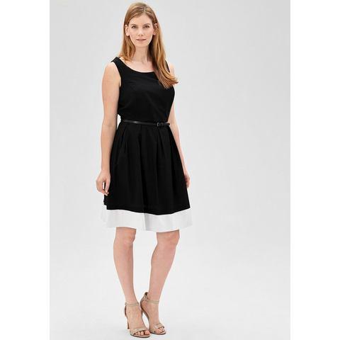 Picture TRIANGLE Getailleerde jurk met riempje zwart 052289