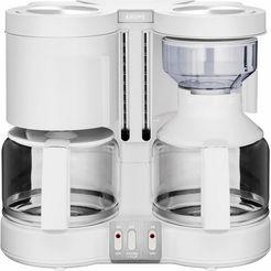 krups duo-koffiezetapparaat duothek plus km8501, met 2 glazen kan, wit wit