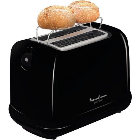 MOULINEX toaster Principio LT1618, voor 2 sneetjes brood, 850 W, zwart