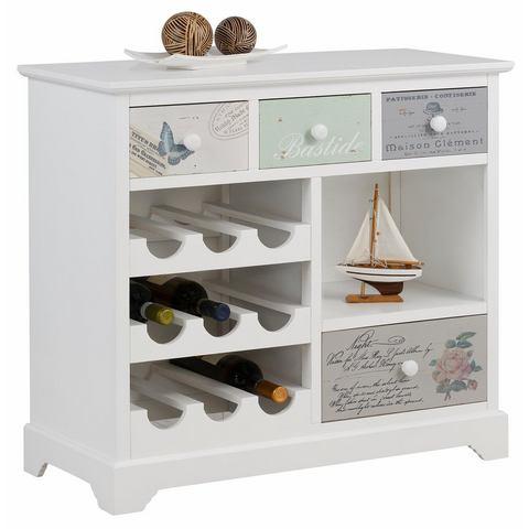 Kasten  vitrinekasten HOME AFFAIRE wijnrek Pastel breedte 80 cm 510858