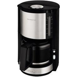 krups koffiezetapparaat proaroma plus km321, met glazen kan, edelstaal-zwart zilver