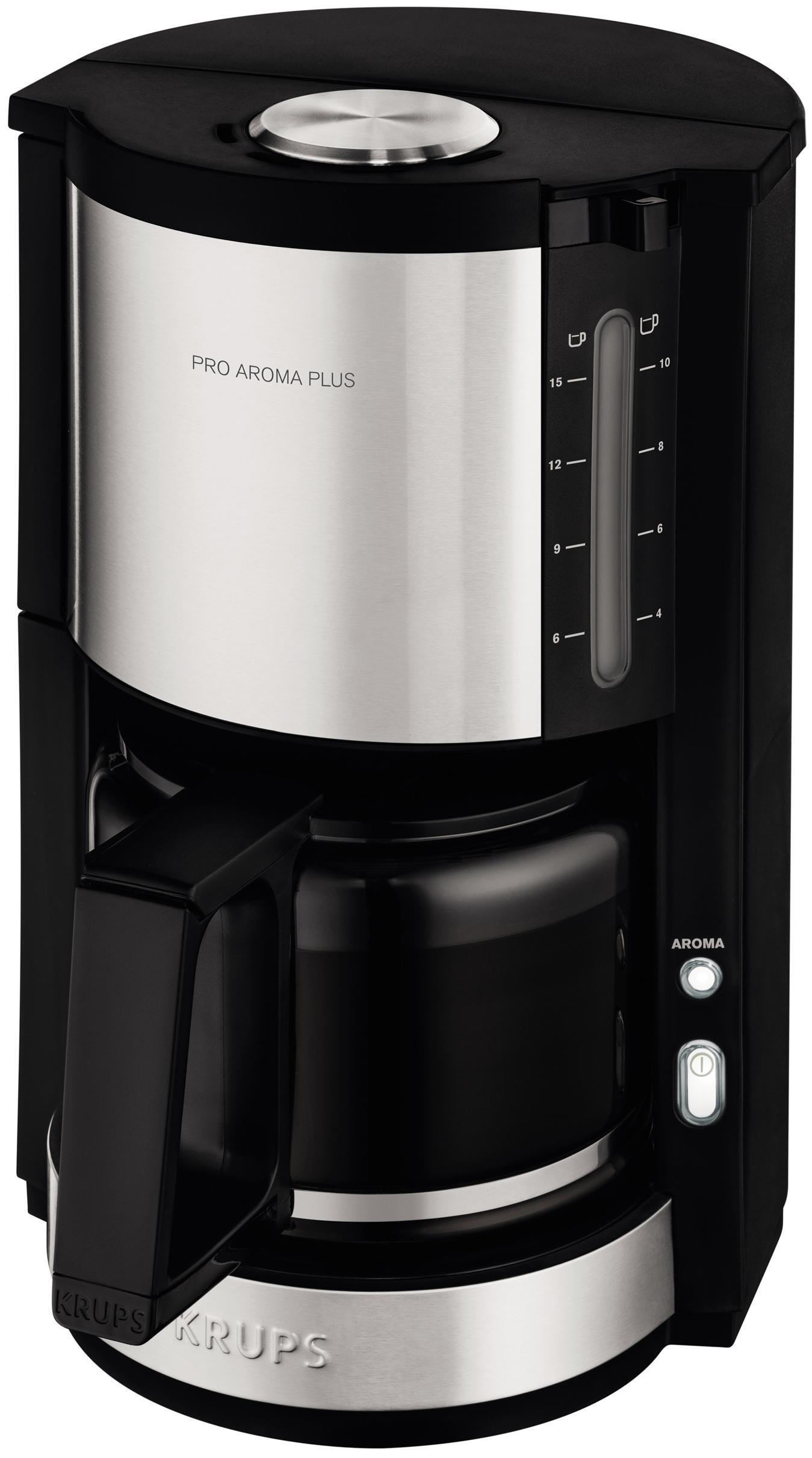 Krups Koffiezetapparaat ProAroma Plus KM321, met glazen kan, edelstaal/zwart nu online kopen bij OTTO