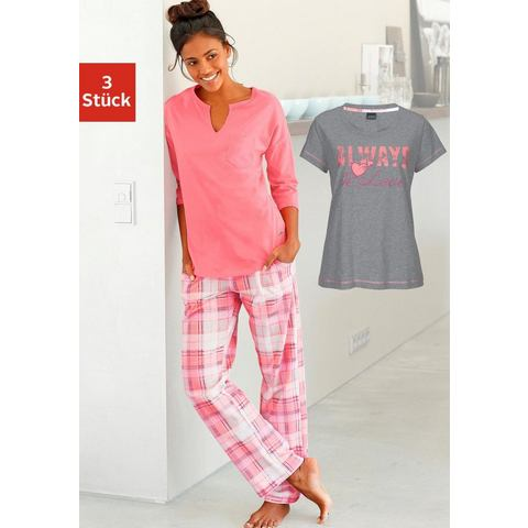 ARIZONA Pyjama van puur katoen in 3-delige set