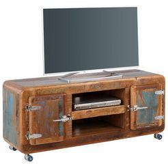 sit tv-meubel »fridge«, breedte 135 cm met koelkastgrepen bruin