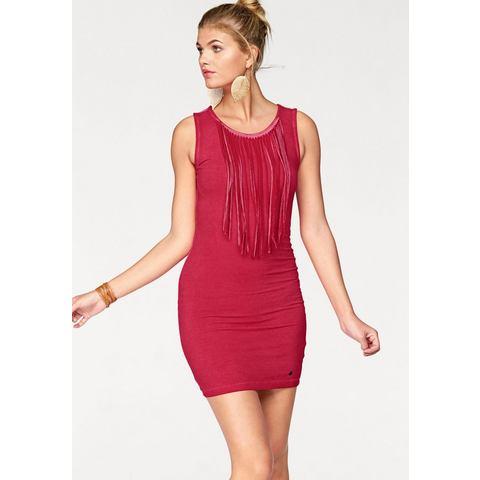 AJC Jersey-jurk met lange franje