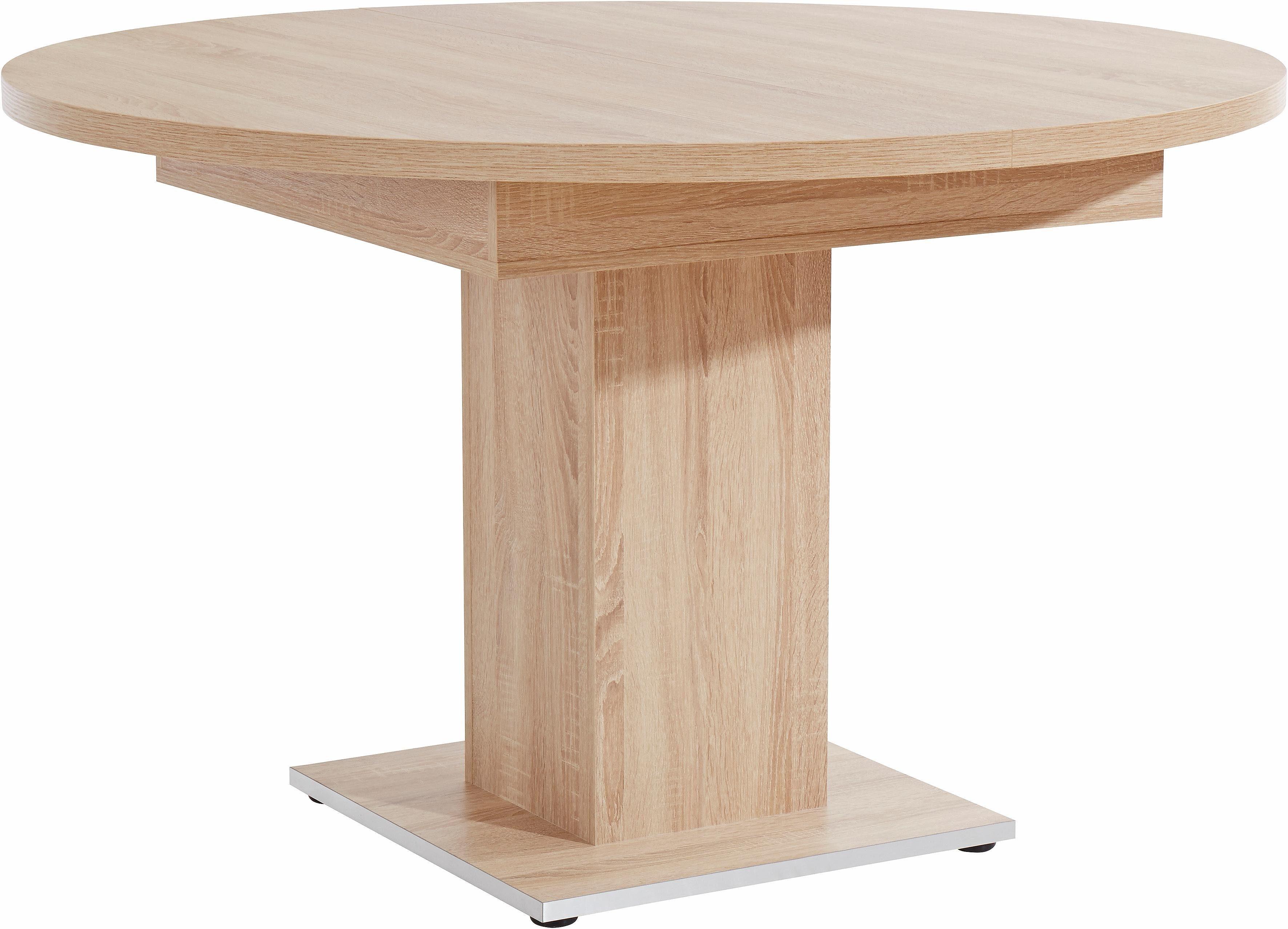 Grote ronde massief eiken tafel uitschuifbaar tot m te koop