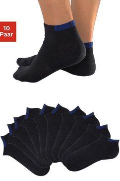 h.i.s korte sokken (set van 10 paar) met verstevigde drukzones zwart
