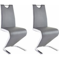 steinhoff vrijdragende stoel (set van 2) grijs