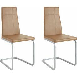 steinhoff vrijdragende stoel in set van 2 of 4 bruin