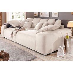 home affaire megabank breedte 302 cm, lounge bank met vele losse kussens beige