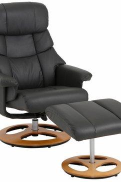 home affaire relaxfauteuil toulon inclusief hocker, met handmatige relaxfunctie, te kiezen tussen twee verschillende onderstellen, zithoogte 45 cm (2 stuks) grijs