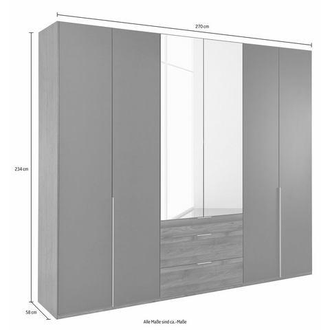 Kledingkasten Wimex garderobekast met spiegeldeuren en laden New York 721856