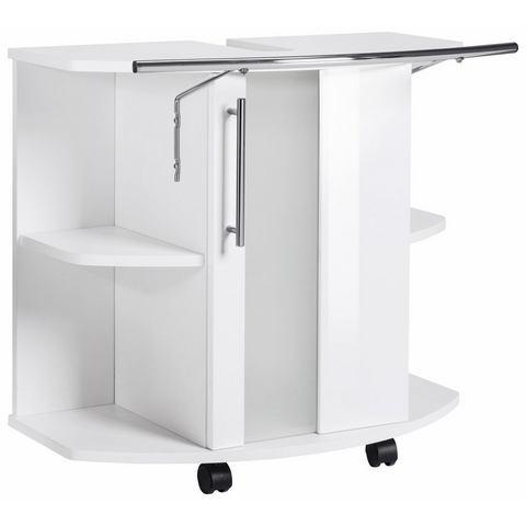 KESPER Wastafelonderkast Visby op rollers witte badkamer onderkast 224
