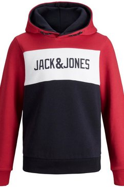 jack  jones junior hoodie »jjelogo blocking sweat h« rood