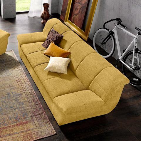 woonkamer driepersoons bankstel geel Structuurstof grof