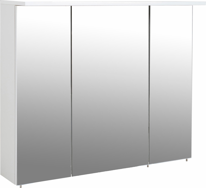 Schildmeyer spiegelkast Profiel 16 Breedte 90 cm, 3-deurs, verzonken ledverlichting, schakelaar-/stekkerdoos, glasplateaus, Made in Germany in de webshop van OTTO kopen