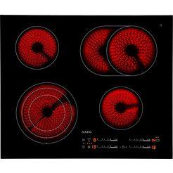 aeg glaskeramische kookplaat competence - hk654070fb zwart