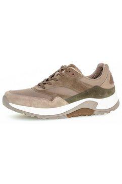 gabor rollingsoft sneakers met karakteristieke loopzool beige