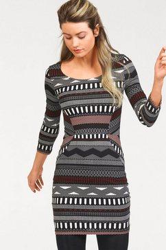 ajc jersey-jurk met allover-print zwart