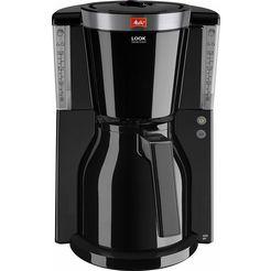 melitta koffiezetapparaat look therm selectrion 1011-12, met thermoskan, zwart zwart