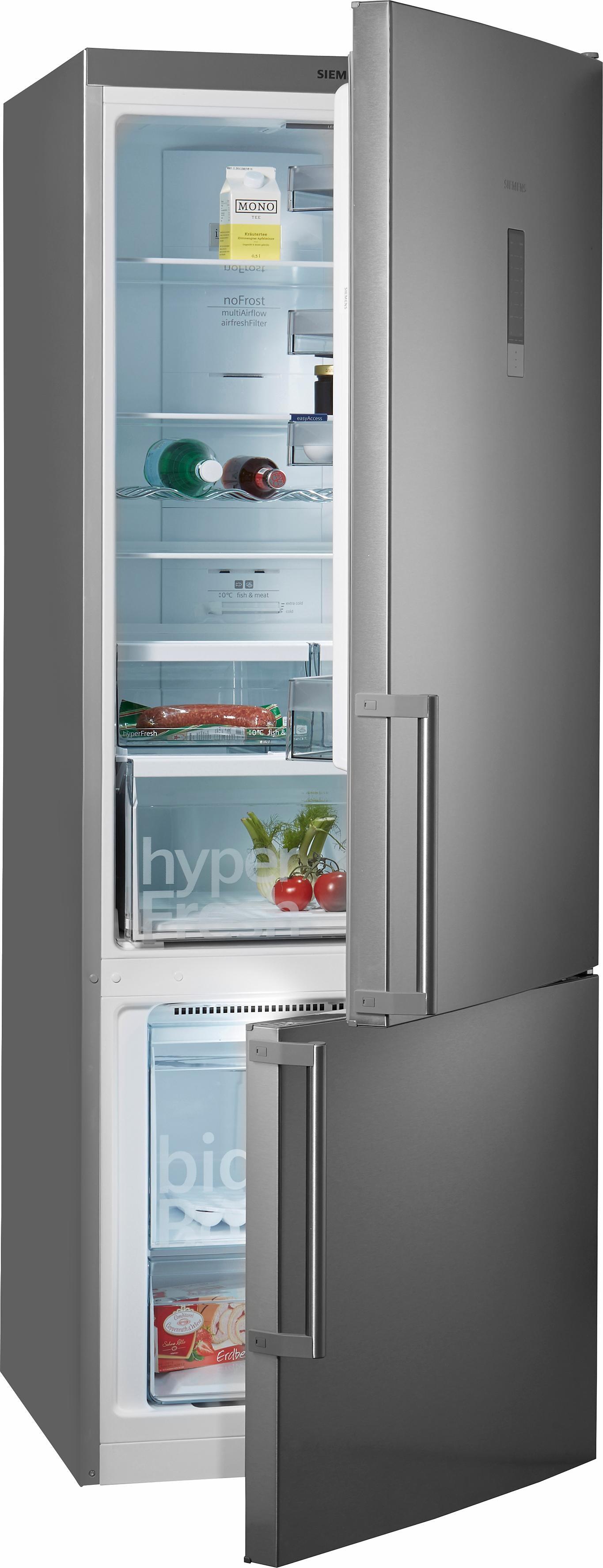 Siemens koel-vriescombinatie KG56NXI40, A+++, 193 cm hoog, No Frost nu online kopen bij OTTO