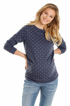 neun monate zwangerschaps-sweatshirt blauw