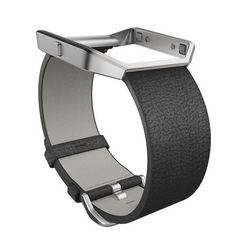 fitbit reserve--verwisselbare armband »leren armband voor blaze in maat l« zwart