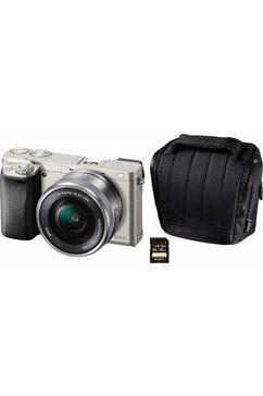 Alpha ILCE-6000L systeemcamera, 16-50 mm zoom, incl. tas, 32 GB SD-kaart