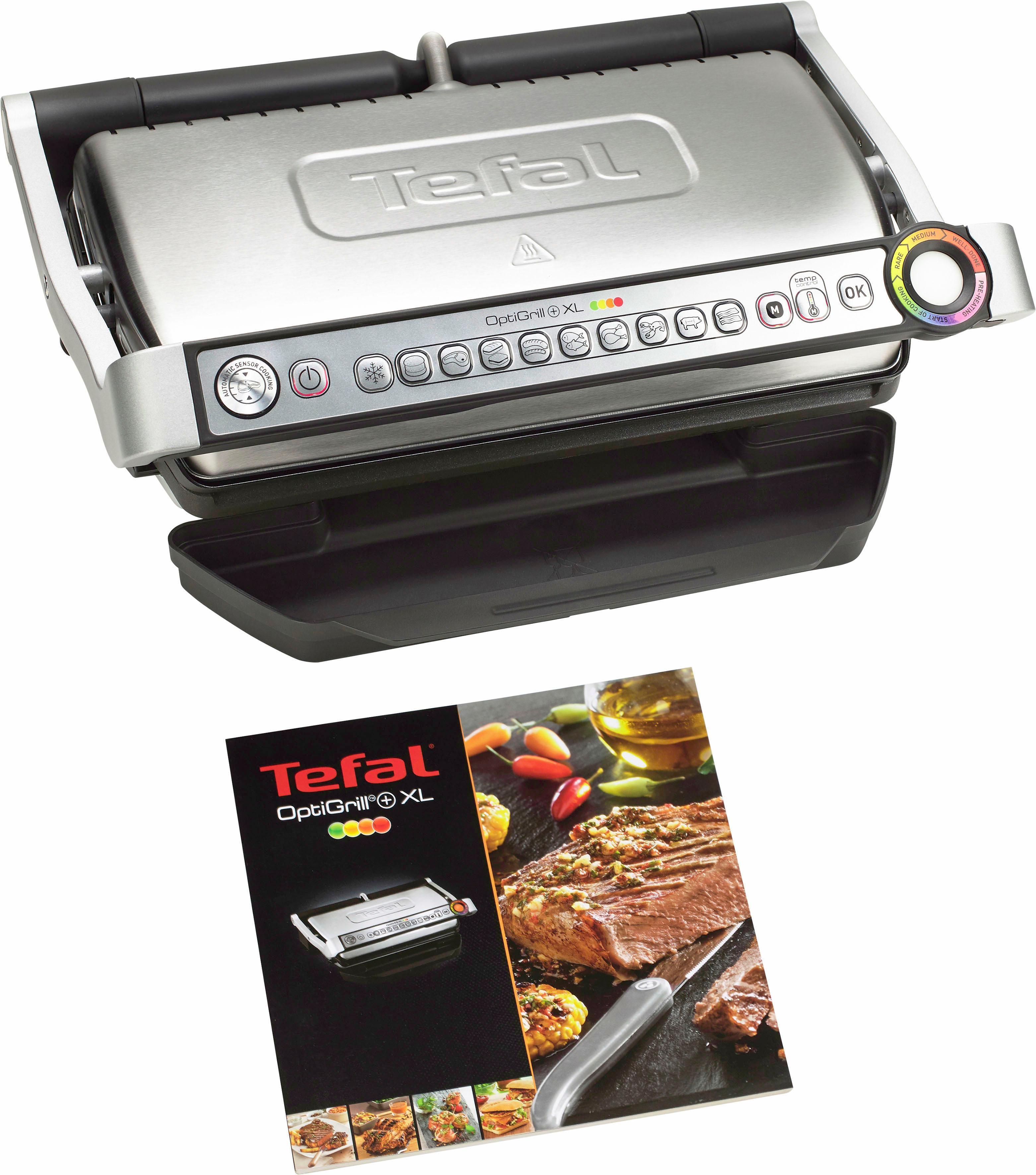 Tefal contactgrill GC722D OptiGrill+ XL 33% meer grilloppervlak nu online kopen bij OTTO