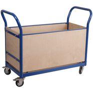 sz metall transportwagen »professional«, vierwandbescherming blauw