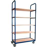 sz metall transportwagen »professional«, met 5 planken blauw
