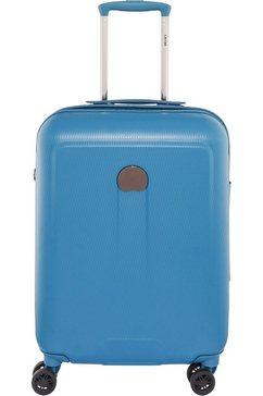 delsey harde boardtrolley slimline met 4 dubbele rollers, »helium air 2« blauw