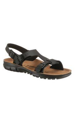 birkenstock sandalen »saragossa« zwart