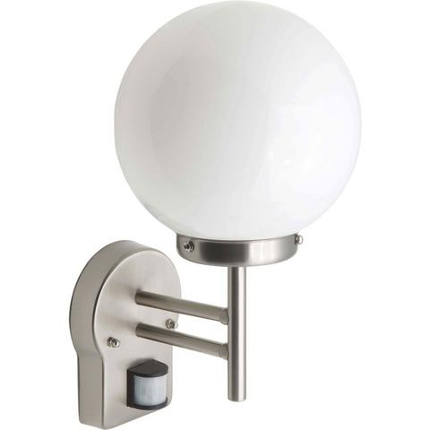Brilliant LED-buitenlamp, 1 fitting, wandlamp met bewegingsmelder, AALBORG