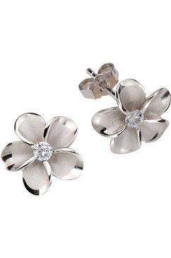 firetti oorstekers »bloem« met zirkoon zilver