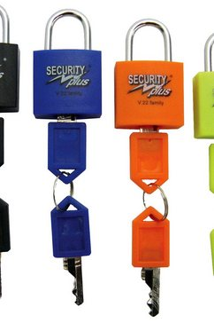 security plus hangslot security plus gezinnen 4 stuks slotset (set) zwart