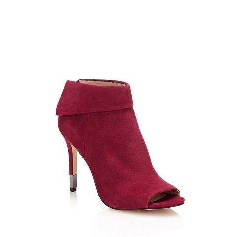 Dames schoen: GUESS enkellaarsjes Hessio van suèdeleer