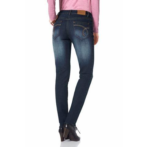 CHEER Skinny-jeans met bewegingsplooien