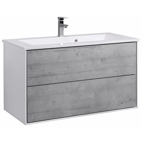 SCHILDMEYER wastafelonderkast »Bodo« grijze badkamer onderkast 102