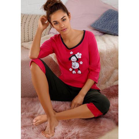 NU 15% KORTING: NICI capripyjama met schattige frontprint