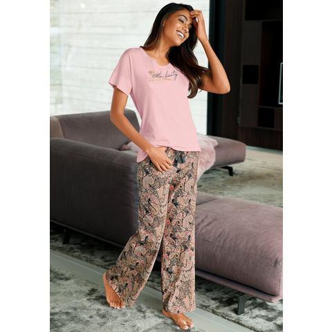 NU 15% KORTING: LASCANA wijde broek met paisleymotief