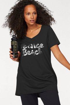 venice beach lang shirt grote maten zwart
