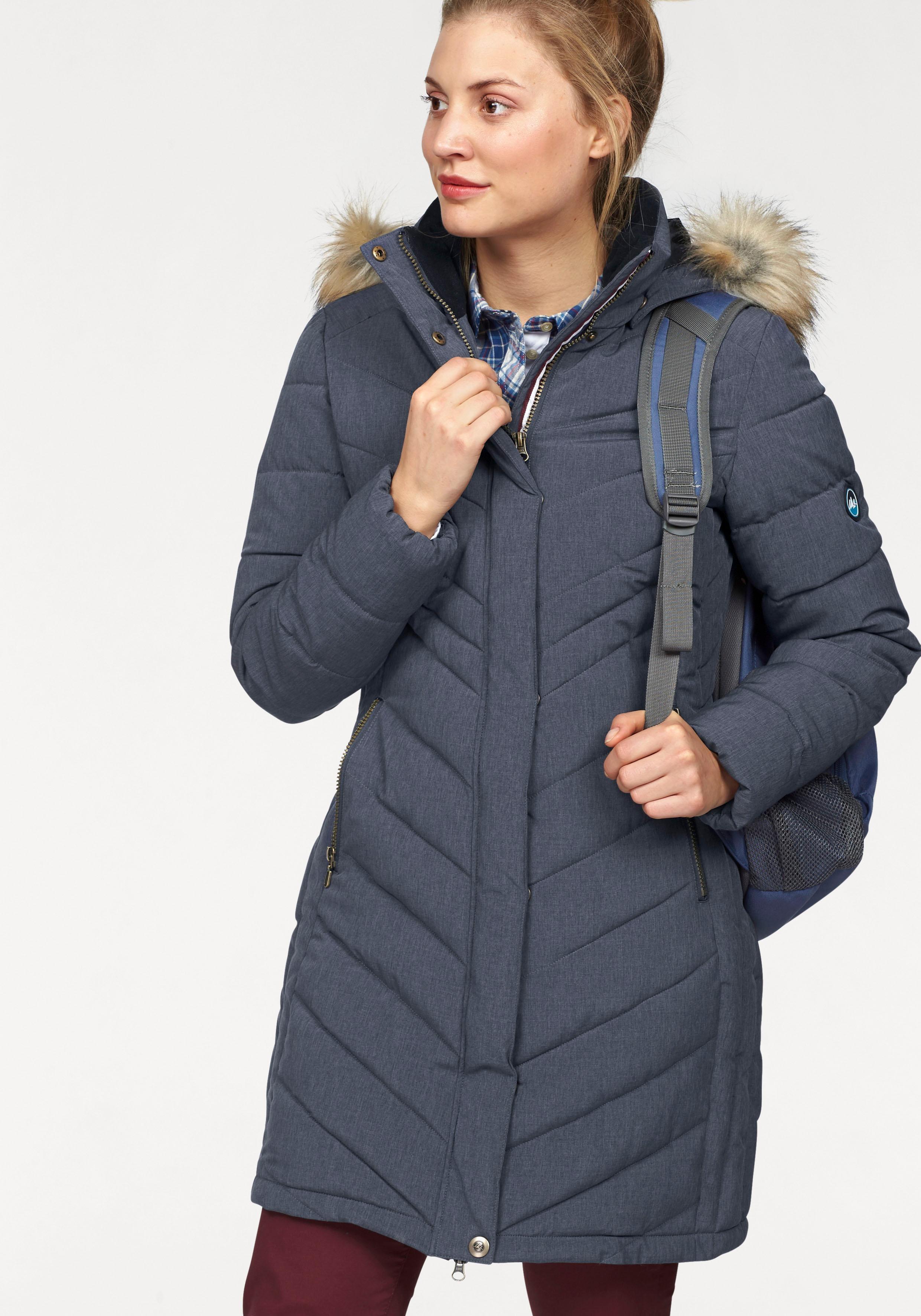Polarino doorgestikte jas van gemêleerd, functioneel materiaal online kopen op otto.nl