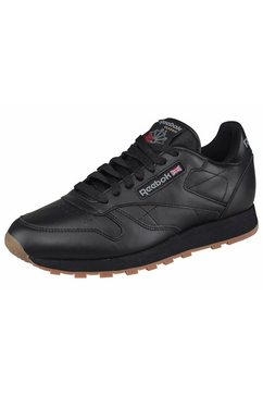 reebok sneakers cl lthr zwart