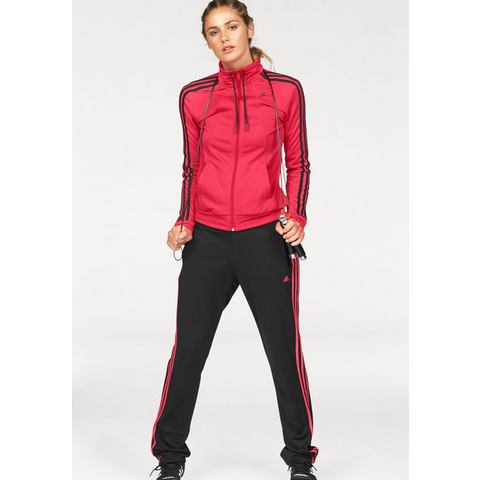 adidas Essentials 3-Stripes Tricot Trainingspak, Rood, XL, Female, Not Sports Specific