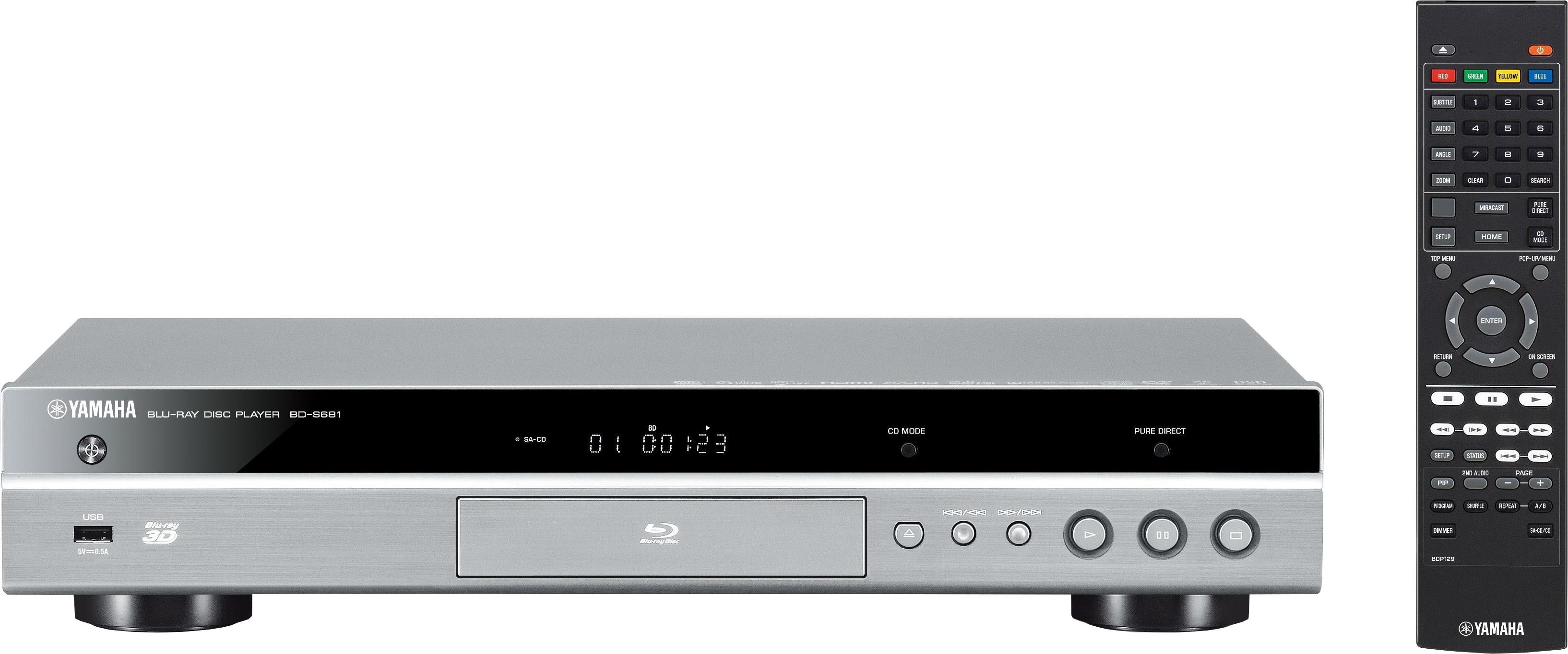 Yamaha BD-S681 3D-blu-ray-speler, 3D-ready, 4K (Ultra HD), WLAN nu online kopen bij OTTO