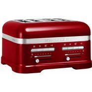 kitchenaid toaster »artisan 5kmt4205eca«, voor 4 plakken, tomaatrood rood