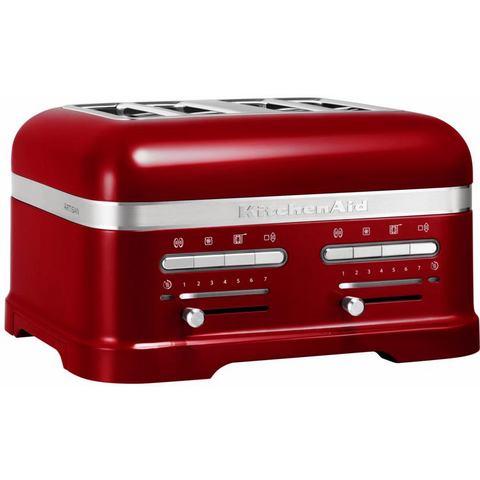 KITCHENAID toaster »Artisan 5KMT4205ECA«, voor 4 plakken, tomaatrood